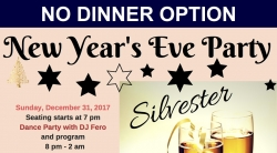 New Year's Eve - NO Dinner OPTION (Adult $33 plus GST)